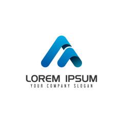Modern letter A technology Logo design concept template