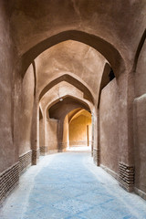 Beautiful passage in the ancient part of Yazd, Iran