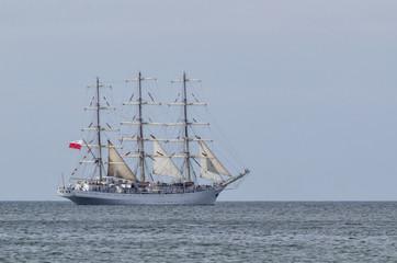 SAILING SHIP - Frigate Dar Mlodziezy at sea