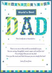World's best dad cerificate