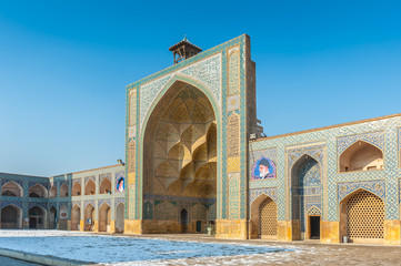 Part of the Jameh Mosque of Isfahan, Iran. This mosque was found in 771