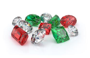 Beautiful precious stones