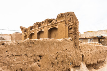 Ruins in the ancient area of Nushabad, Iran