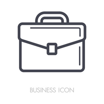 Briefcase outline icon. Business sign