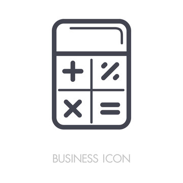 Calculator icon vector. Finances sign