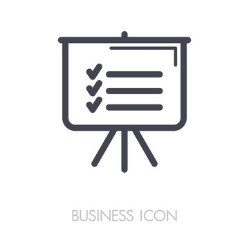 Statistics in training board icon. Planning sign