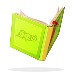 vector cartoon object illustration. Open book. Baby graphics concept.