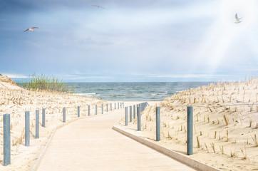 Strandzugang mit Dünen