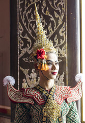 Praram is character of traditional dance drama art of Thai classical masked, this performance is Ramayana THAI KHON epic