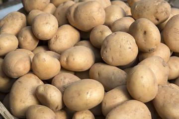 Potatoes on Market Stall