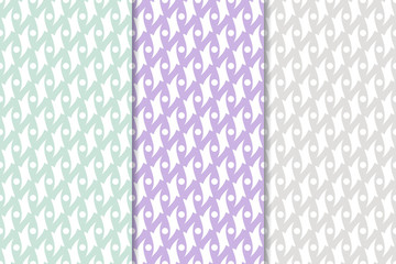 Colored geometric seamless backgrounds