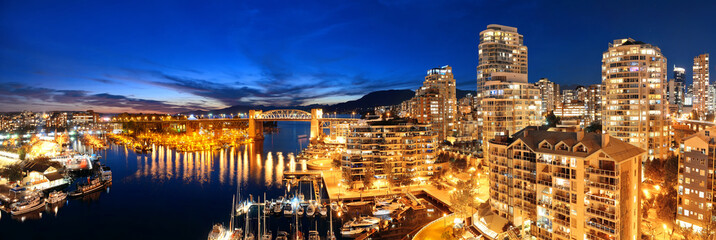 Fototapete - Vancouver harbor view