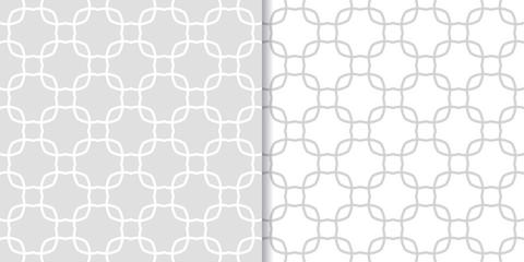 Geometric gray set of seamless patterns