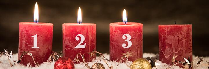 adventsgesteck, dritter advent