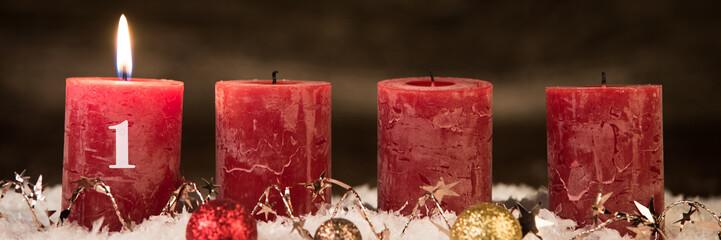 adventsgesteck,  erster advent