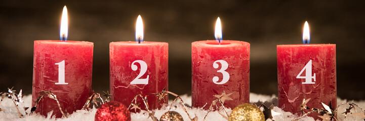 adventsgesteck, vierter advent
