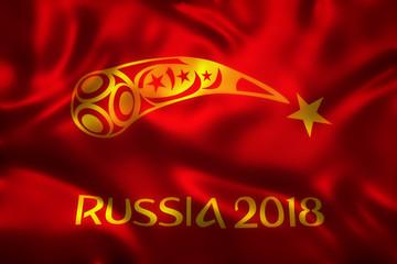 3D Rendering of Flag for World Football 2018 Wallpaper - World Soccer Tournament in Russia