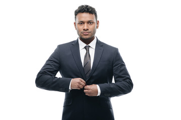 african american businessman in suit