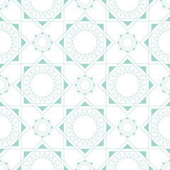 Linear seamless geometric pattern blue pastel colors on a white background. Vector pattern.