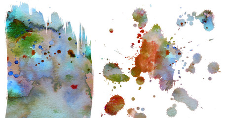 watercolors on a paper - an aquarelle texture