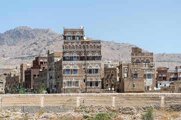 Architecture of Sana'a, the capital of Yemen.