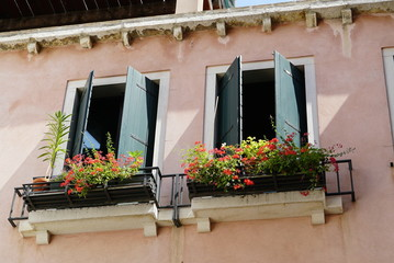 Window sill in Italy during summer of 2017