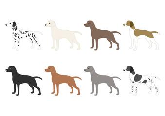 犬の種類 イラスト アイコン