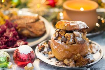 Bratapfel an Heiligabend
