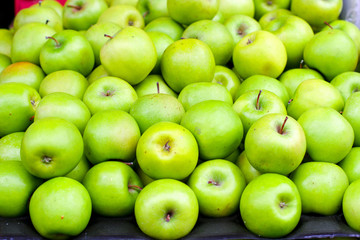 Pile of Green apples