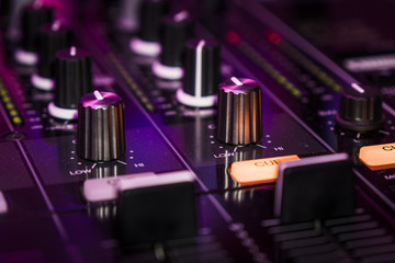 Detail of Pioneer DJM 900 nexus Mixer