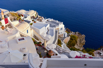 Scenic architecture of the houses on the Greek island of Santorini