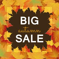 Big Autumn sale design.