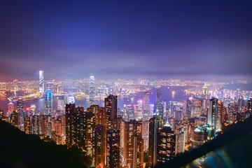 Panorama of Hong Kong city