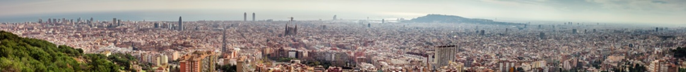 Foto op Canvas panorama view of Barcelona city