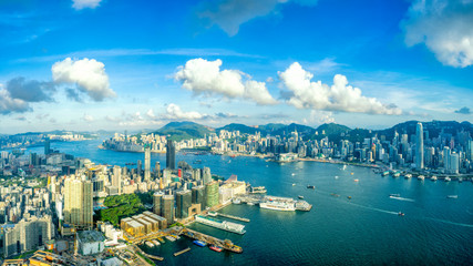 Fototapete - Panorama of Hong Kong City skyline