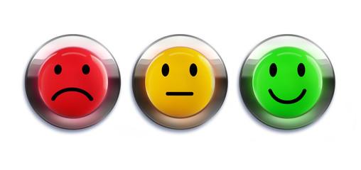 Bewertungs Smileys als Buttons