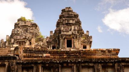 Part of the Ta Keo, a temple-mountain, in Angkor (Cambodia). It was the state temple of Jayavarman V, son of Rajendravarman