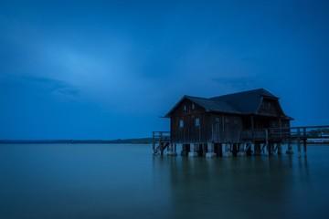 Gewitterwolken Ammersee Bootshaus