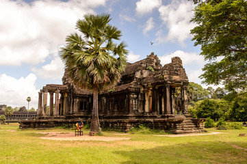 Khmer architecture of the Angkor Wat Territory in Cambodia
