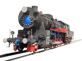 locomotive isolated over white