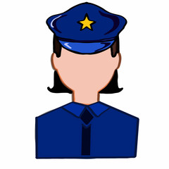 police woman icon