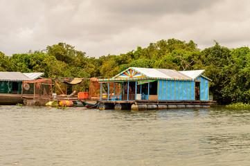 Floating village Chong Knies in Cambodia, Tonle Sap (Great lake)