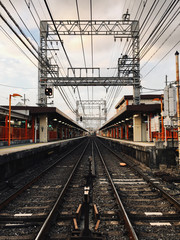 Railway Tracks in Kyoto Japan