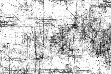 Black and white grunge background. Texture of black and white lines, scratches, scuffs. Urban style of the old surface with scratches