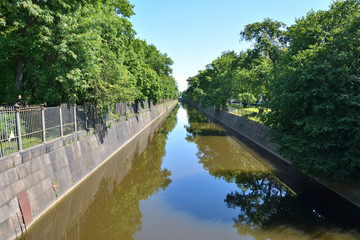 Water channels in the town of Kronstadt