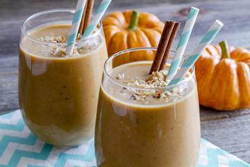 Pumpkin Coconut Smoothie Drinks