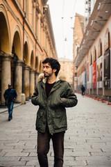 Italian Man Walking