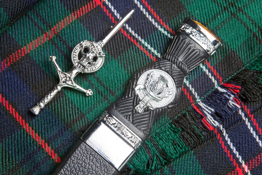 Kilt pin and scottish knife