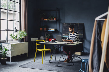 Businessman Working From Home Office