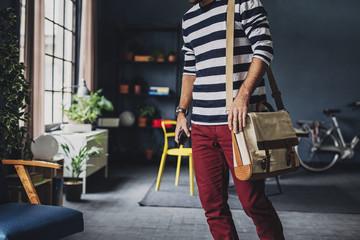 A Businessman Carrying A Bag
